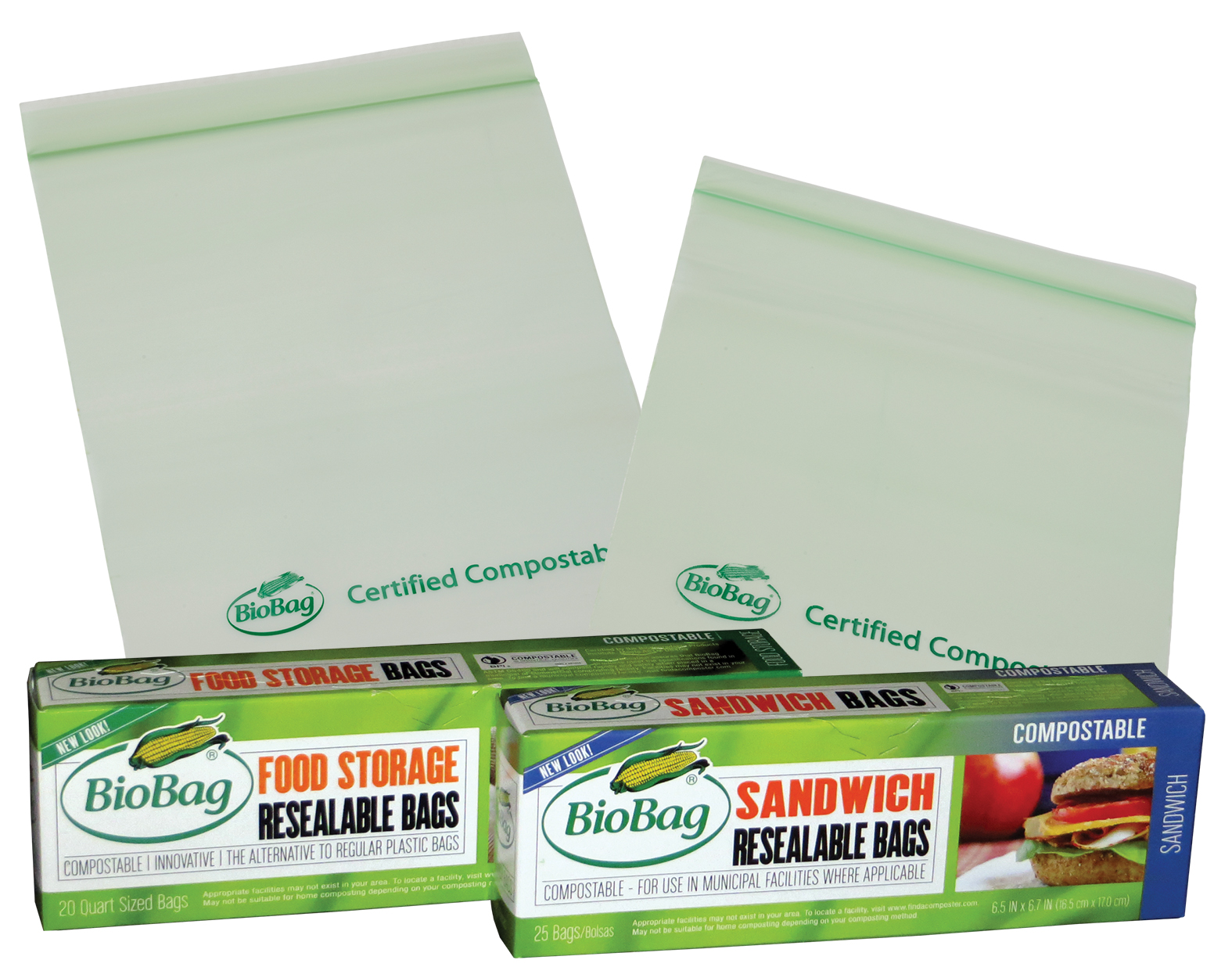 BioBag Resealable Food Storage and Sandwich Bags