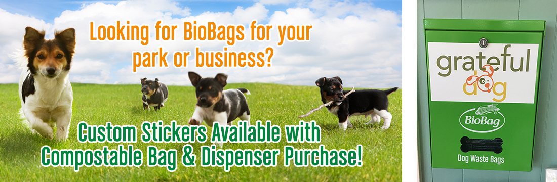 Custom Stickers Available with BioBag Dog Waste Bag & Dispenser Purchase